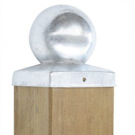 Pfostenabdeckung quadratisch – Kugel, verzinkt