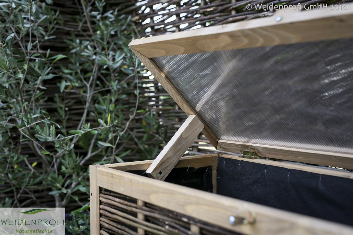 balkon hochbeet mit weide verflochten 40 x 80 x 100 cm. Black Bedroom Furniture Sets. Home Design Ideas