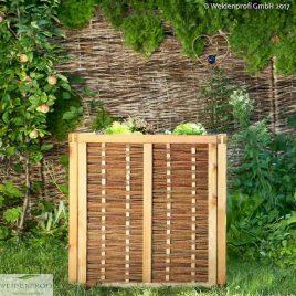 Hochbeet aus Kiefer und Weide, Bausatz mit Zubehör
