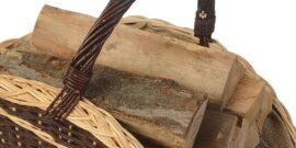 Kaminholzkörbe, Holzkörbe aus Weide