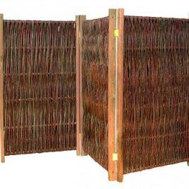 weidenzaun paravent elegant 180 x 180 cm. Black Bedroom Furniture Sets. Home Design Ideas